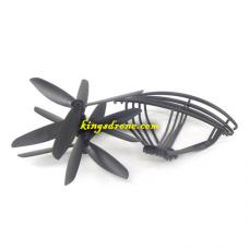 240039 Propellers 4PCS + Guards 4PCS Spare Parts for Polaroid PL2400 RC Camera Drone