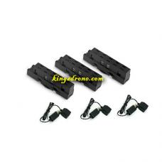 Pack of Lipo Batteries (3) + USB (3) Replacement Parts for Propel Navigator Morph Drone